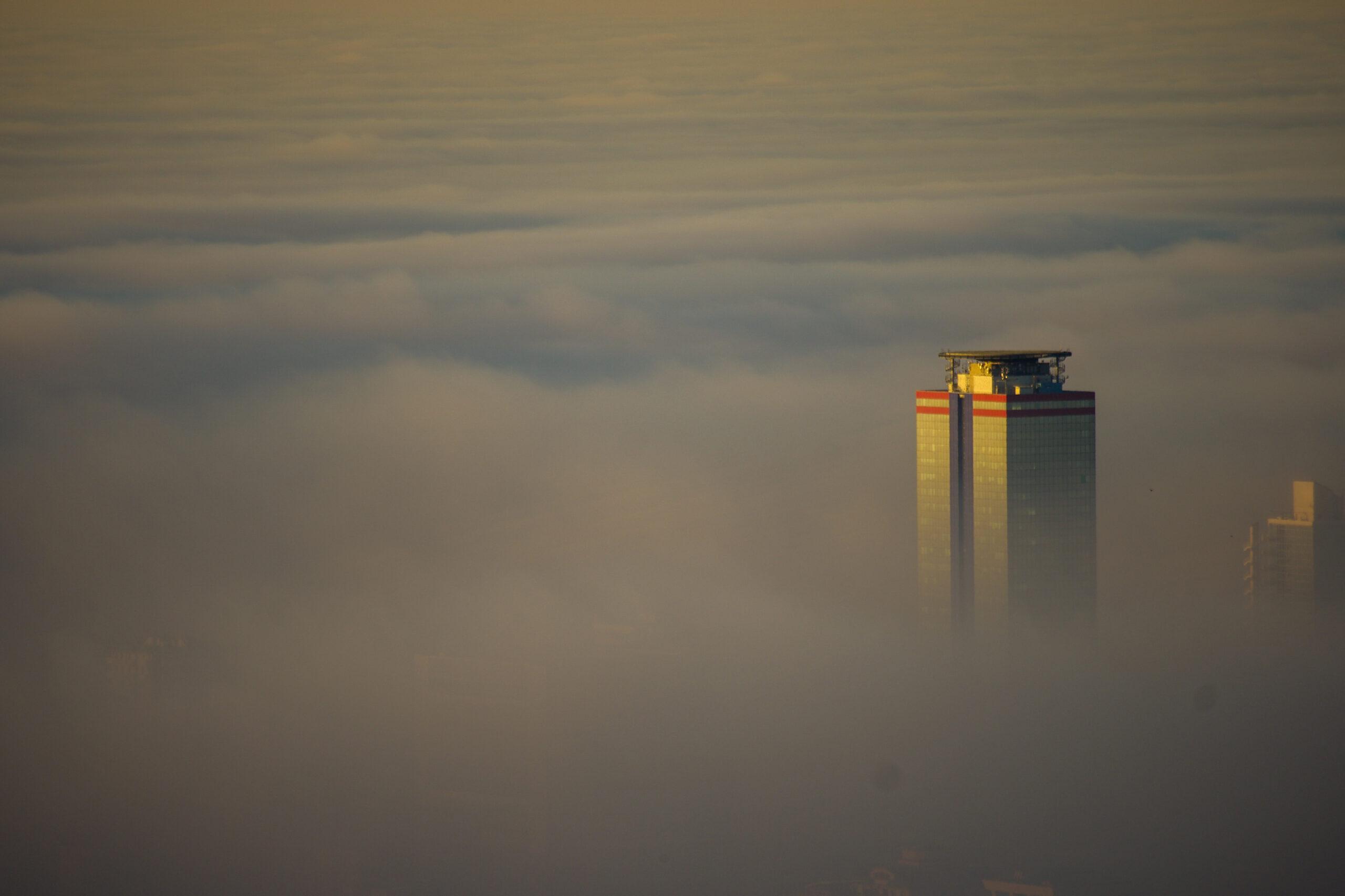 Nebbia su Brescia